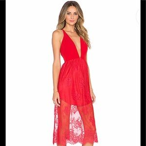NBD X Revolve 'Falling In Love' Dress NWT in Red